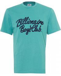 BBCICECREAM - Script T-shirt, Regular Fit Teal Blue Tee - Lyst