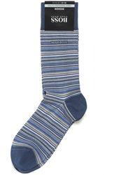 BOSS Black - Rs Design Micro Stripe Blue Socks - Lyst
