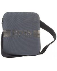 BOSS - Pixel S Zip Black Logo Stash Bag - Lyst