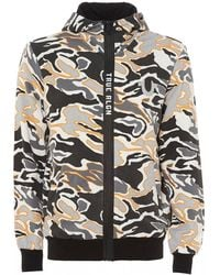 True Religion - Multi Camo Print Hoodie, Zip Up Hooded Sweatshirt - Lyst