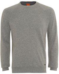 BOSS by Hugo Boss - Sweater, Wheel Slim Fit Grey Track Top - Lyst