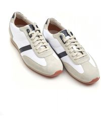 BOSS by Hugo Boss - Orland_lowp_sdny1 Trainers, Suede Leather White Sneakers - Lyst