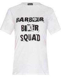 Barbour - International Biker Squad Victory White T-shirt - Lyst