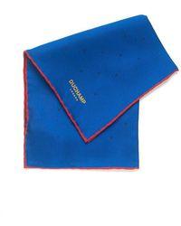 Duchamp - Lido Blue Silk Spot Print Pocket Square - Lyst