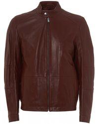 b46b45275 Polo Ralph Lauren Lambskin Leather Jacket in Brown for Men - Lyst