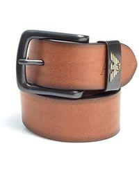 Armani Jeans - Cognac Brown Eagle Logo Leather Belt - Lyst