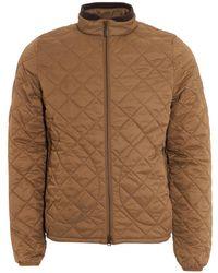 Barbour - International Boxer Quilt Jacket, Military Brown Coat - Lyst