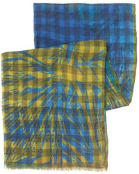 Etro - Scarf Large Floral Multi-coloured Check Scarf - Lyst
