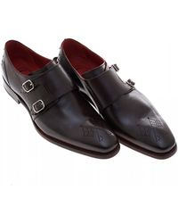 Jeffery West Blood Hunger Dark Brown Monk Shoes