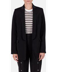 T By Alexander Wang - Soft Suiting L/s Tuxedo Blazer W/ Chain Detail Black - Lyst