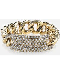 SHAY - Essential Pave Id Link Ring In Yellow Gold - Lyst