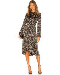 Vince - Eden Branch Twist Drape Dress - Lyst