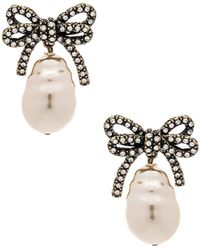 Marc Jacobs - Large Bow Pearl Earrings - Lyst