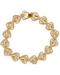 Vanessa Mooney - The Heart Bracelet In Metallic Gold. - Lyst