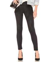 Yummie By Heather Thomson - Signature Faux Suede Legging In Black - Lyst