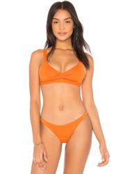 Vitamin A - Mia Bikini Top In Orange - Lyst