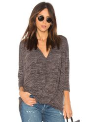 Bobi - Heather Knotted Jumper In Grey - Lyst