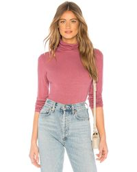 Michael Stars - Long Sleeve Turtleneck In Mauve. - Lyst