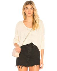 MAJORELLE - V-neck Sweater In Neutral - Lyst