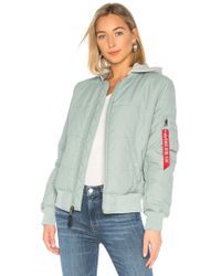 Alpha Industries - Ma-1 Natus Quilted Flight Jacket - Lyst