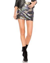 Bobi - Black Sequin Camo Skirt - Lyst