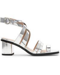 BCBGeneration - Erica Sandal In Metallic Silver - Lyst