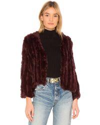 Heartloom - Rosa Fur Jacket - Lyst