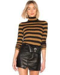 Alice + Olivia - Roberta Turtleneck Sweater In Burnt Orange - Lyst