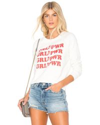 Rebecca Minkoff - Grl Pwr Graphic Sweatshirt In White - Lyst