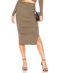 Lamade - Gathered Midi Skirt In Army - Lyst