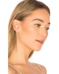 EF Collection - Diamond Bar Stud Earring - Lyst