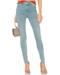 Free People - High Rise Long And Lean Jean - Lyst