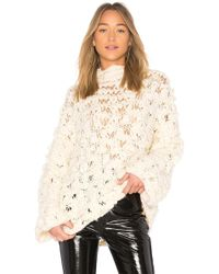For Love & Lemons - Cloudy Day Popover Jumper In Ivory - Lyst