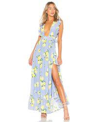 MAJORELLE - Sweet Pea Dress In Blue - Lyst