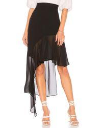 BCBGMAXAZRIA - Asymmetrical Ruffle Skirt In Black - Lyst