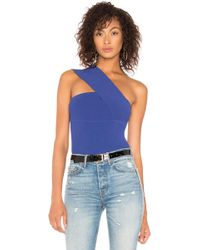 Autumn Cashmere - One Shoulder Tube Top In Royal - Lyst