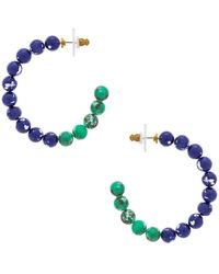 Lele Sadoughi - Stone Hoop Earrings - Lyst