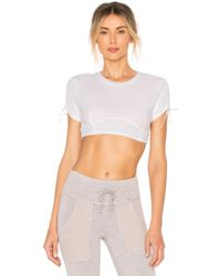 53646caad09b3b Lyst - Free People Fp Movement Lyla Off The Shoulder Top in White