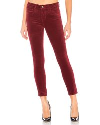 L'Agence - Margot High Rise Skinny In Red - Lyst