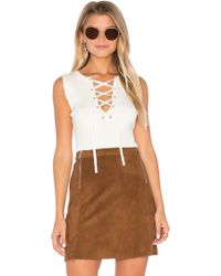 1.STATE - Sleeveless Lace Up Sweater - Lyst