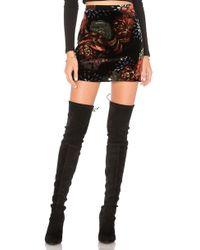 Band Of Gypsies   Romantic Burnout Mini Skirt   Lyst