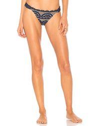 Pilyq - Lace Fanned Bikini Bottom In Navy - Lyst