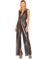 Amanda Uprichard - Gunnar Metallic Jumpsuit - Lyst