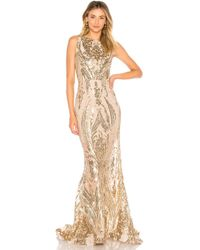 Bronx and Banco - Ester Gold Gown - Lyst