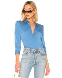 Theory - Blusa en color azul - Lyst