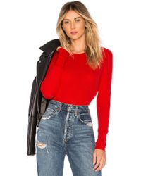 Bobi - Thermal Long Sleeve Crew Neck In Red - Lyst