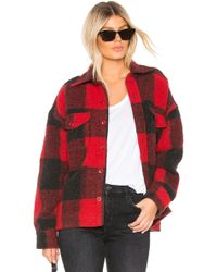 Anine Bing - Bobbi Flannel Jacket In Red - Lyst