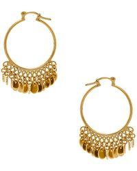 Shashi - Disc Drop Hoop Earrings - Lyst