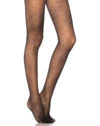 Pretty Polly - Pinspot Tights In Black. - Lyst