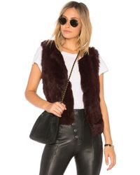 525 America - Basic Fur Vest - Lyst